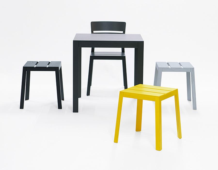 Satsuma Stool Hocker, Satsuma Chair Stuhl, Satsuma Table Tisch
