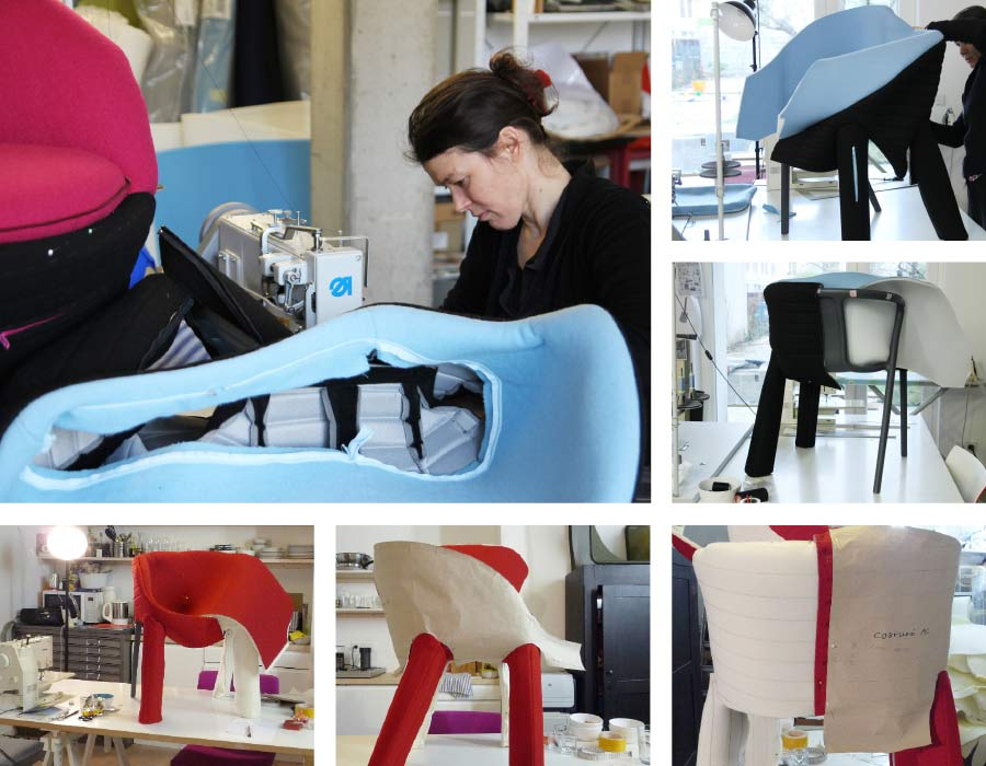 Magis easy chair Spacecoats with designer Julia Läufer
