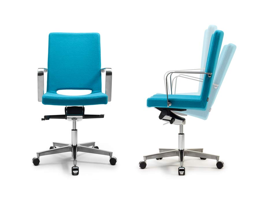 Martela SoftX office chair turquoise