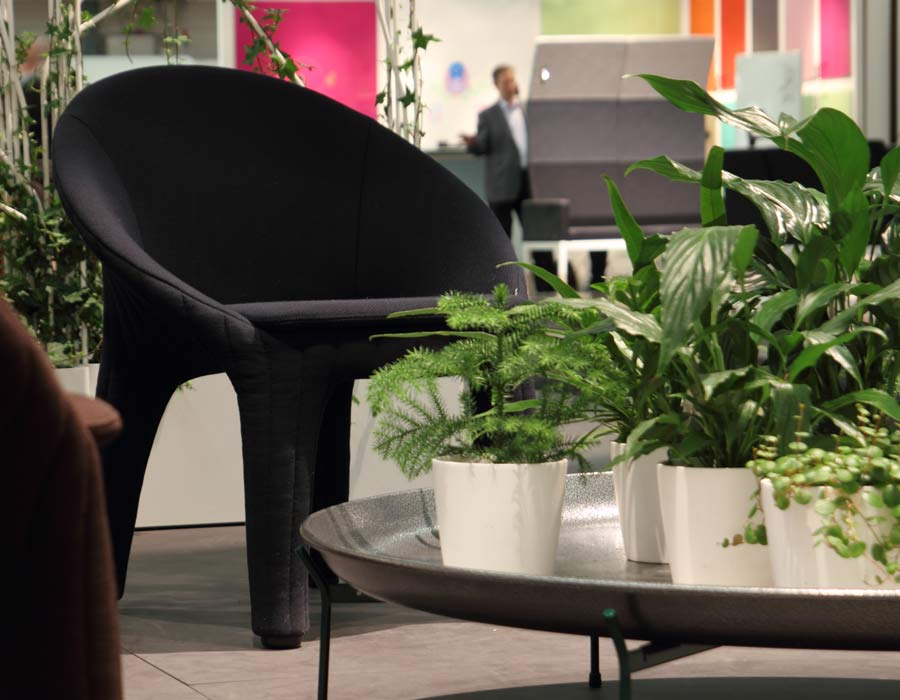 Offecct easy chair coupe - easy chair with table and farn