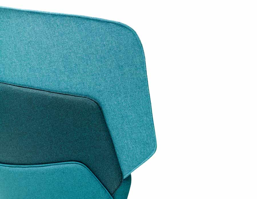 Offecct easy chair Layer - detail in green shades