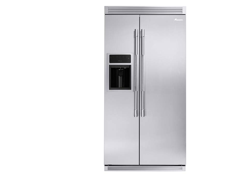 Amana refrigeration silver front
