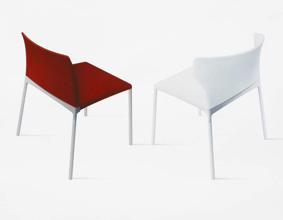 Wilkhahn conference chair Ceno back red and white